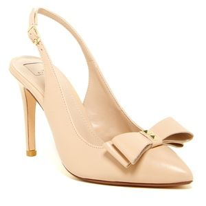 14th & Union Nude Slingback Heel w Bow Detail 7.5